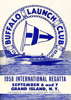 1958 International Regatta - Buffalo Launch Club - Grand Island NY - Program Cover Magnet