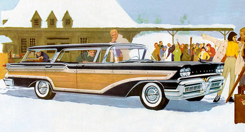 1958 Mercury Station Wagon - Promotional Advertising Poster