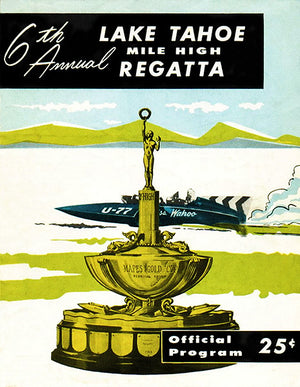 1958 Mile High Regatta Boat Race - Lake Tahoe - Program Cover Poster