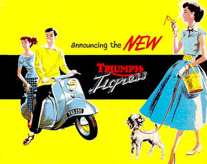 1958 Triumph Tigress - Promotional Advertising Magnet
