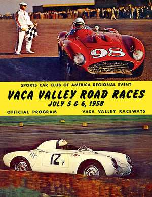 1958 Vaca Valley Road Races - Program Cover Poster