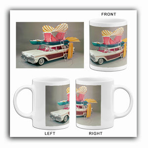 1959 Ford Country Squire With Pushbutton Camper - Promotional Photo Mug