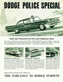 1959 Dodge Pursuit Police Special - Promotional Advertising Magnet