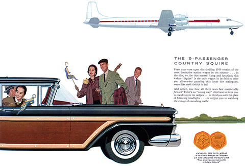 1959 Ford Country Squire Station Wagon - Promotional Advertising Poster