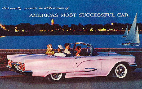 1959 Ford Thunderbird - America's Most Successful Car - Promotional Advertising Poster