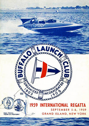 1959 International Regatta - Buffalo Launch Club - Grand Island NY - Program Cover Poster