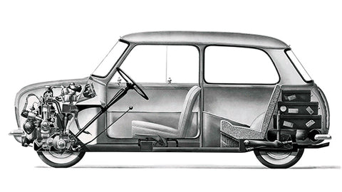 1959 Mini - Cross Section View - Promotional Advertising Poster