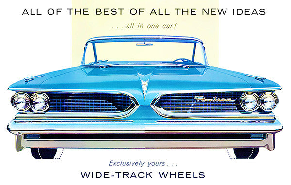 "1959 Pontiac ""Wide-Track Wheels"" - Promotional Advertising Poster"