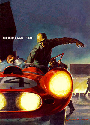 1959 Sebring Race - Promotional Advertising Poster