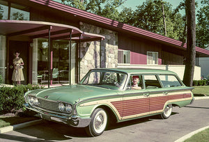 1960 Ford Country Squire Station Wagon - Promotional Photo Magnet