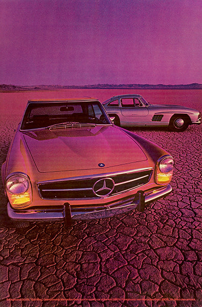 1960 Mercedes 280 SL & 300 SL Gull Wing - Promotional Advertising Poster