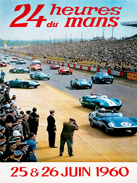 1960 24 Hours of Le Mans Race - Promotional Advertising Poster