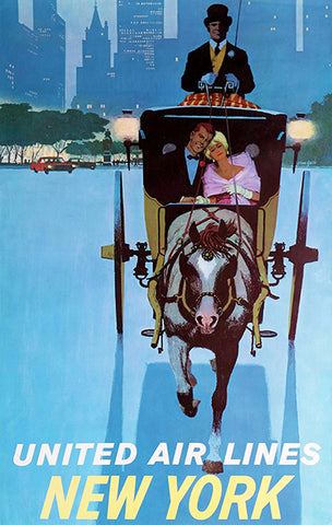 1960 New York - United Air Lines - Travel Poster