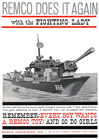 1960 Remco - The Fighting Lady - Toy Advertising Poster