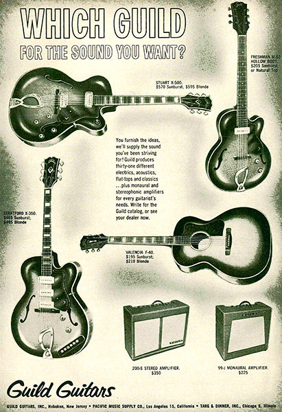 1961 Guild Guitars - Which Guild For The Sound You Want - Promotional Advertising Magnet