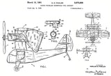1961 - Single Propeller Convertible Vtol Aircraft - H. D. Fowler - Patent Art Poster
