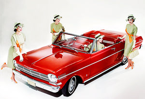 1962 Chevrolet Chevy II Nova Convertible - Promotional Photo Poster