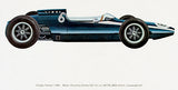 1962 Cooper Formula 1 Race Car - Promotional Illustration Poster