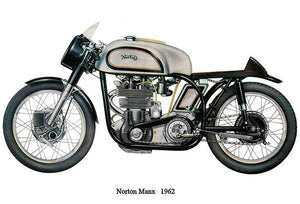1962 Norton Manx - Promotional Advertising Magnet