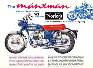 1962 Norton Manxman 650 - Promotional Advertising Magnet