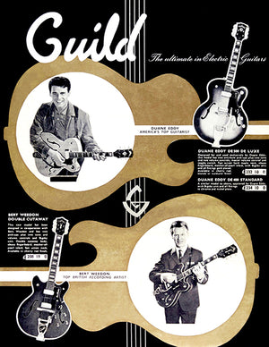 1963 Guild Guitars (UK Versioon) - Catalog Cover Poster