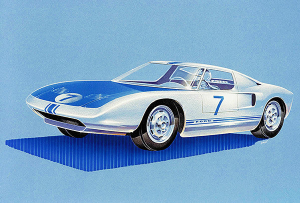 1963 Ford GT40 Concept Car - Promotional Poster
