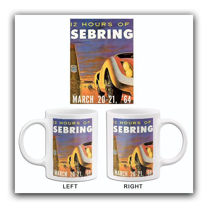1964 12 Hours Of Sebring - Promotional Advertising Mug