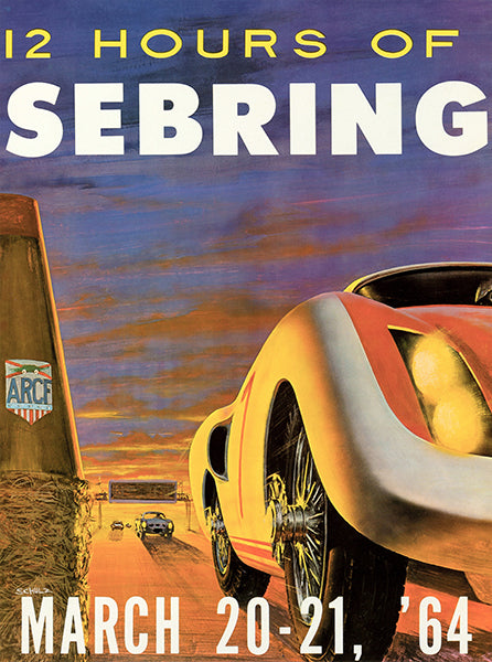 1964 12 Hours Of Sebring - Promotional Advertising Poster