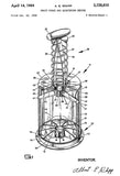 1964 - Fruit Corer - Kitchen - A. E. Whipp - Patent Art Poster
