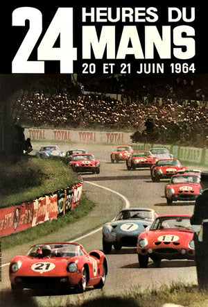 1964 24 Hours Of Le Mans - Promotional Advertising Magnet