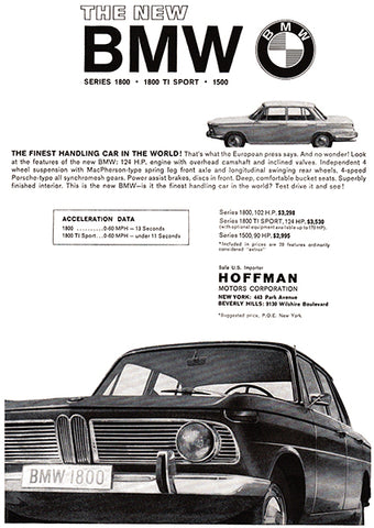 1964 BMW 1800 - Promotional Advertising Poster