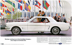 1964 Ford Mustang - Worlds Fair - Promotional Advertising Poster