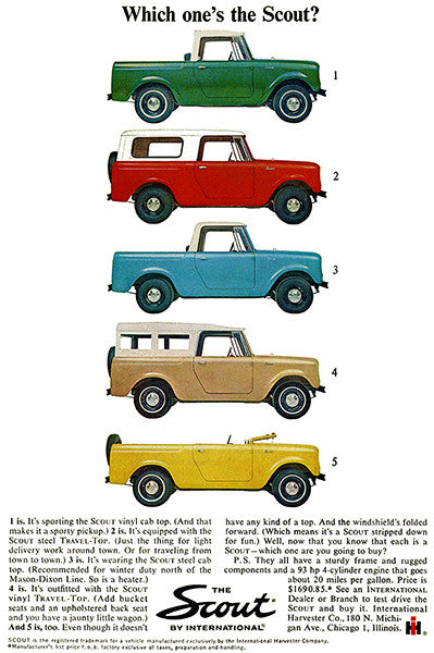 1964 International Scout - Promotional Advertising Poster