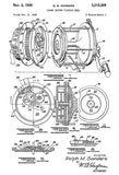1965 - Power Driven Fishing Reel - R. M. Sanders - Patent Art Poster