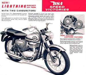 1965 BSA Lightning Rocket 650 Twin - Promotional Advertising Magnet