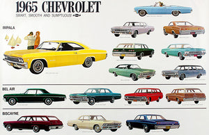 1965 Chevrolet Line - Promotional Advertising Poster