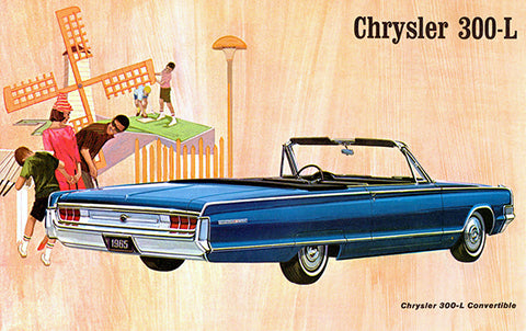 1965 Chrysler 300-L Convertible - Promotional Advertising Poster
