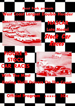 1965 NASCAR Stock Car Races - Ascot Park - Program Cover Poster