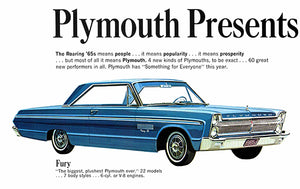 1965 Plymouth Fury II - Promotional Advertising Poster