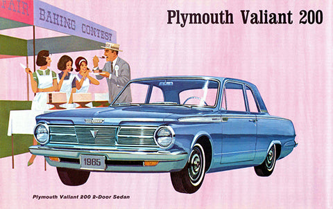1965 Plymouth Valiant 200 2-Door Sedan - Promotional Advertising Poster