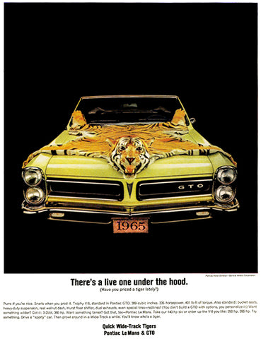 1965 Pontiac GTO #2 - Promotional Advertising Poster