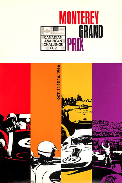 1966 CanAm Monterey Grand Prix - Promotional Advertising Poster