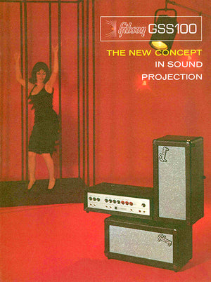 1966 Gibson GSS100 Amplifier - Promotional Advertising Poster