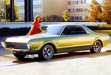 1966 AMC AMX II Project IV Concept Car - Promotional Photo Poster
