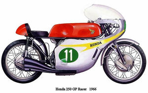 1966 Honda 250 GP Racer - Promotional Advertising Magnet