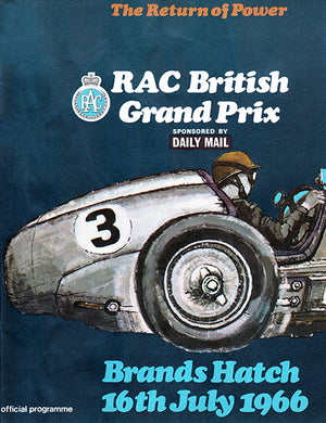 1966 RAC British Grand Prix - Brands Hatch - Program Cover Poster