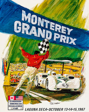 1967 CanAm Monterey Grand Prix - Promotional Advertising Magnet