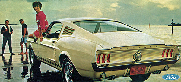 1967 Ford Mustang GT Fastback - Promotional Advertising Poster