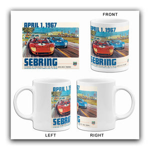 1967 Sebring 12 Hour Race - Promotional Advertising Mug