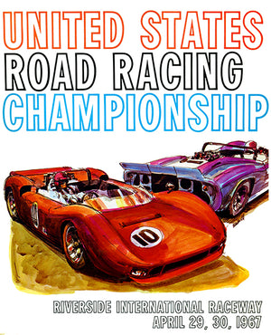 1967 Can Am Road Racing Championship - Riverside - Promotional Advertising Poster